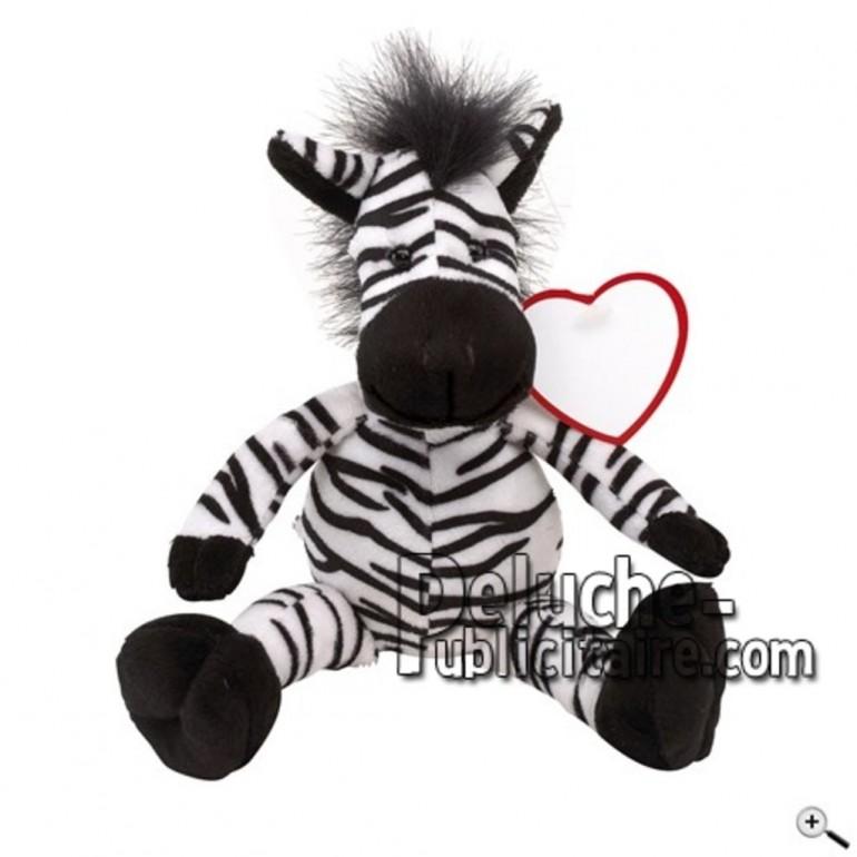 Buy black zebra peluche 30cm. Personalized Plush Toy.