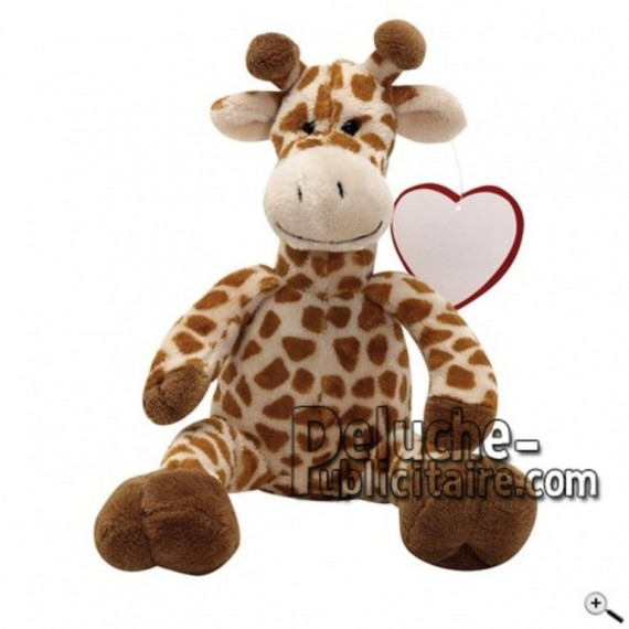 Achat peluche girafe marron 27cm. Peluche personnalisée.