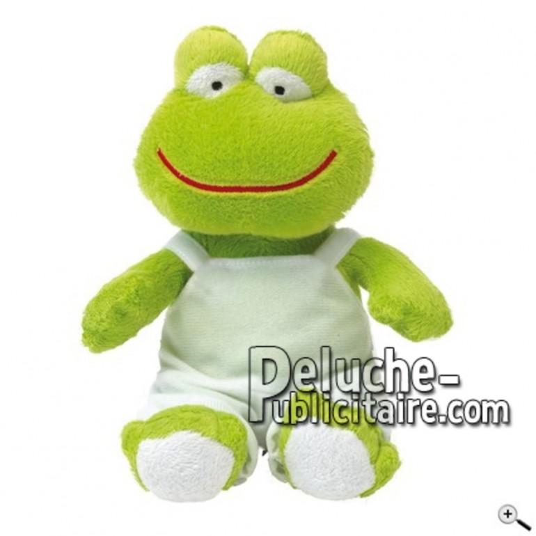Achat peluche grenouille vert 20cm. Peluche personnalisée.