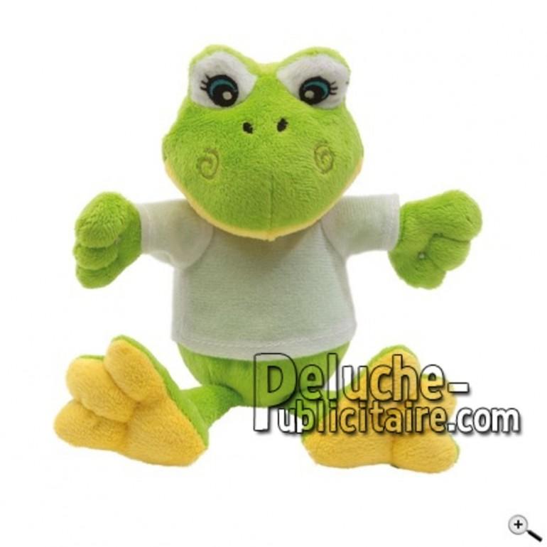 Achat peluche grenouille vert 27cm. Peluche personnalisée.