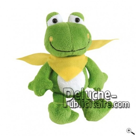 Buy green frog peluche 18cm. Personalized Plush Toy.