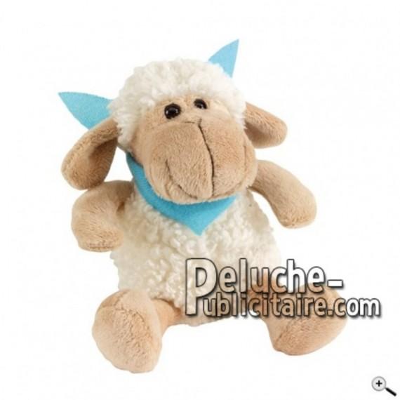 Achat peluche mouton beige 18cm. Peluche personnalisée.