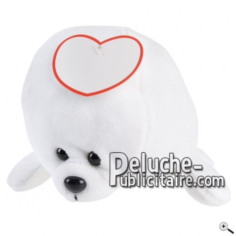 Buy White sea lion peluche 20cm. Personalized Plush Toy.