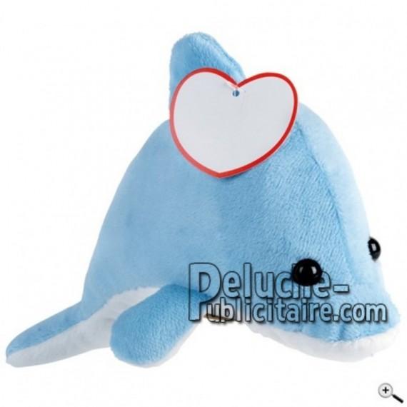 Achat peluche requin gris 22cm. Peluche personnalisée.