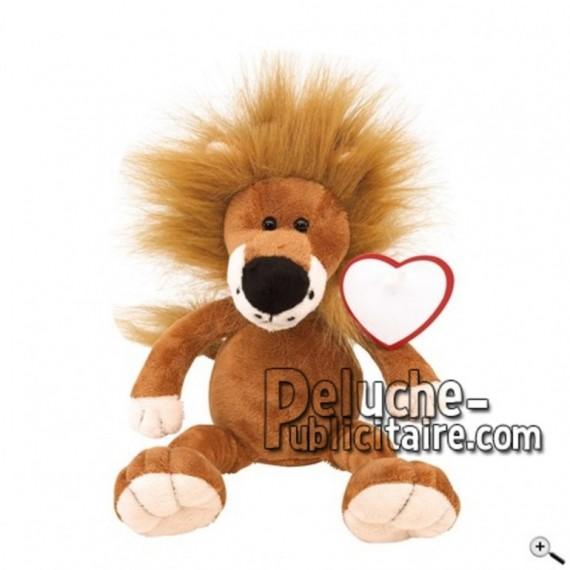Achat peluche lion marron 27cm. Peluche personnalisée.