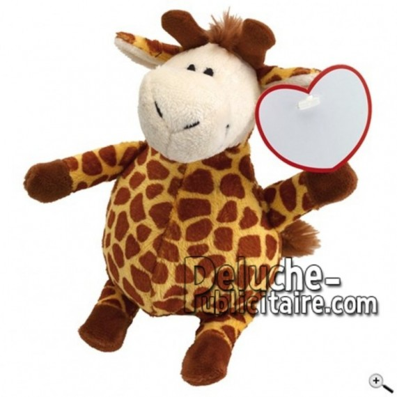 Buy Brown giraffe peluche 22cm. Personalized Plush Toy.