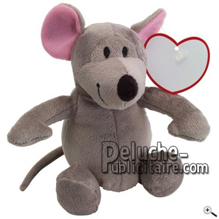 Buy Grey mouse peluche 22cm. Personalized Plush Toy.