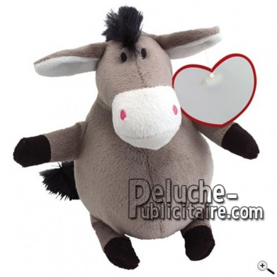Buy Grey donkey peluche 18cm. Personalized Plush Toy.