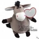 Buy Grey donkey peluche 18cm. Personalized Plush Toy.