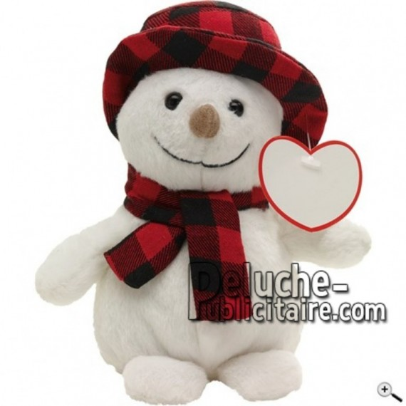Buy White snowman peluche 19cm. Personalized Plush Toy.