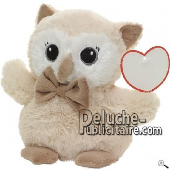 Buy beige owl peluche 17cm. Personalized Plush Toy.