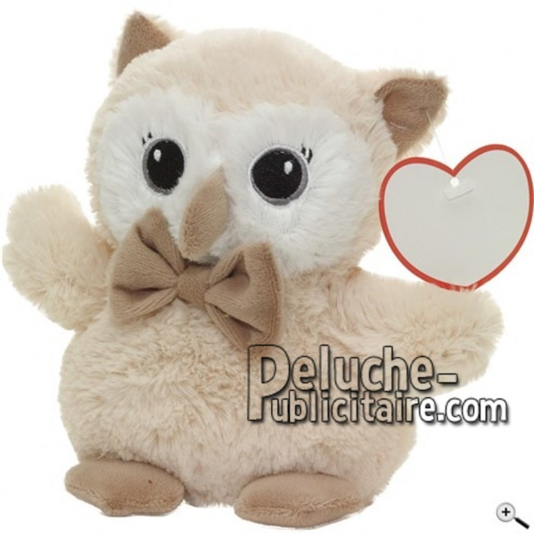 Buy beige owl peluche 17cm. Personalized Plush Toy.