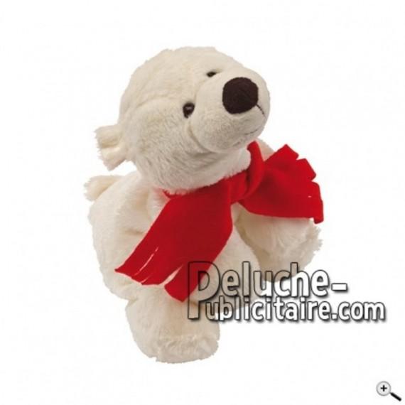 Achat peluche ours polaire blanc 24cm. Peluche personnalisée.