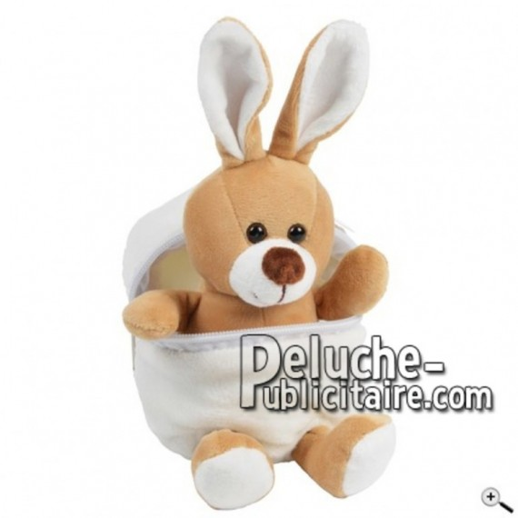 Buy Brown rabbit peluche 25cm. Personalized Plush Toy.