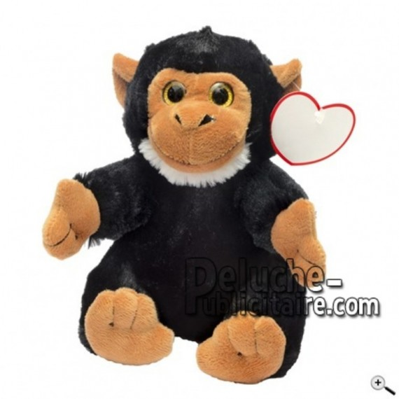 Buy black monkey peluche 18cm. Personalized Plush Toy.