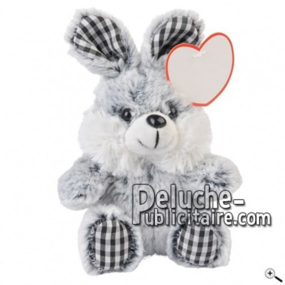 Buy Grey rabbit peluche 19cm. Personalized Plush Toy.