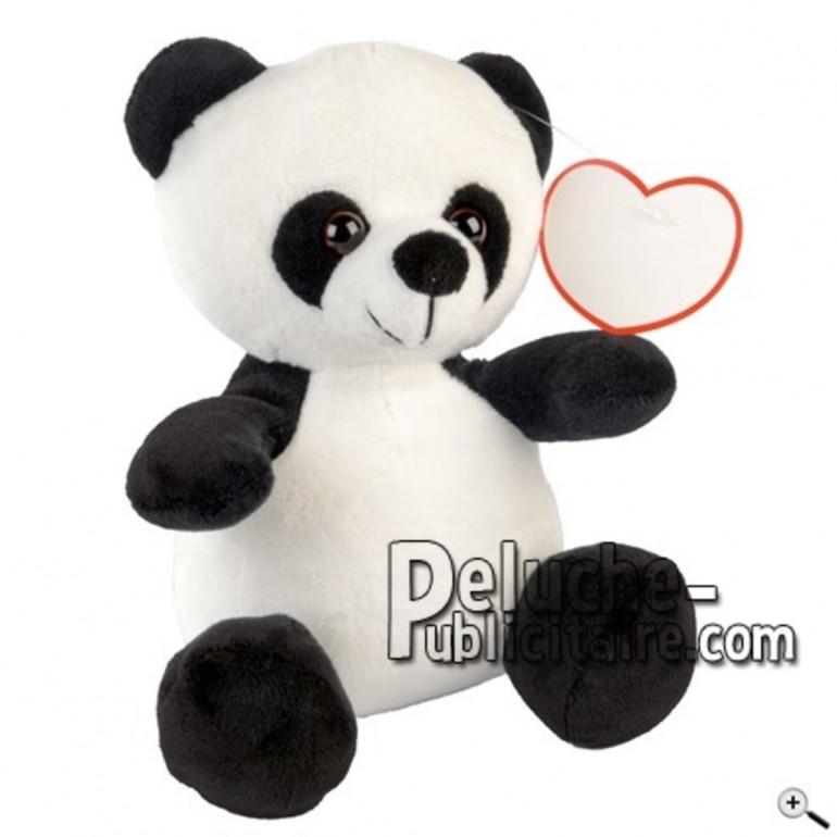 Achat peluche panda blanc 20cm. Peluche personnalisée.