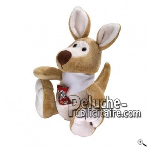 Achat peluche kangourou marron 18cm. Peluche personnalisée.