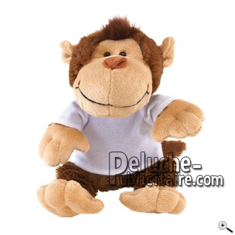 Buy Brown monkey peluche 23cm. Personalized Plush Toy.