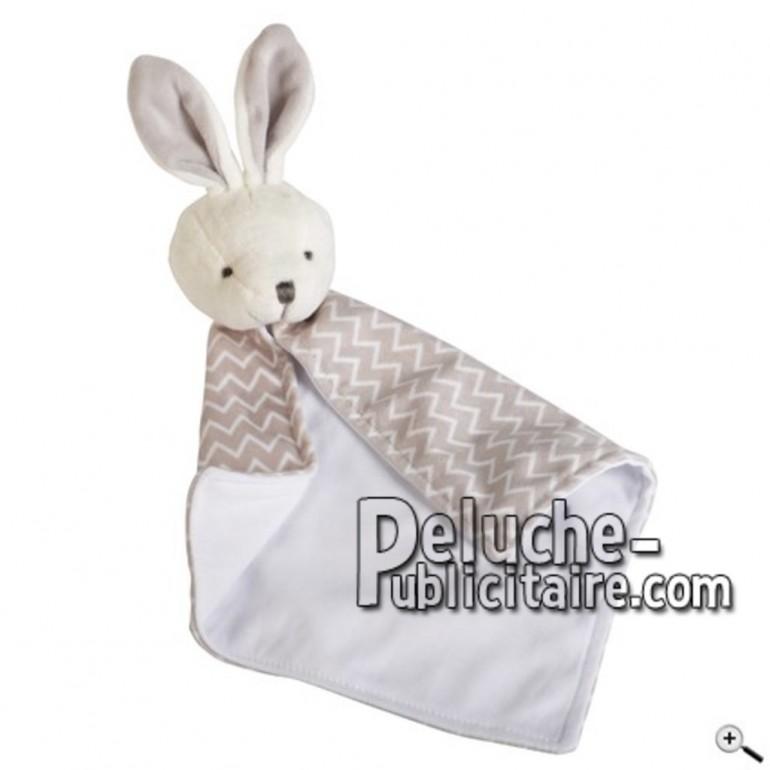 Achat doudou lapin blanc 40cm. Peluche personnalisée.