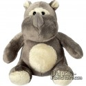 Purchase Rhinoceros Plush 14 cm. Plush to customize.